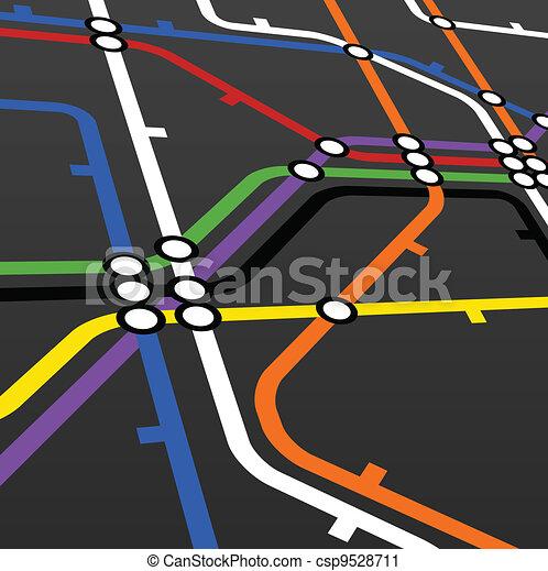 esquema, pretas, metro - csp9528711