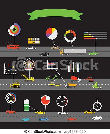 esquema, transporte, infographoc, elementos - csp16634050