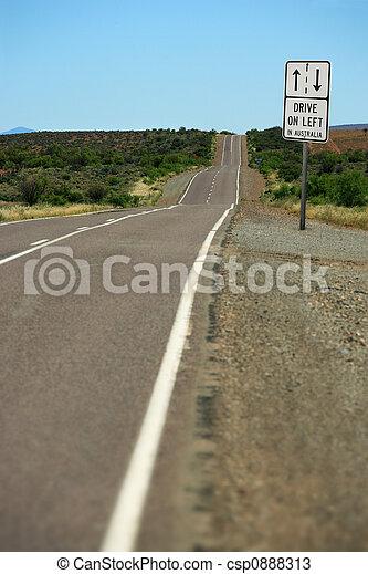 esquerda, oz, conduzir - csp0888313