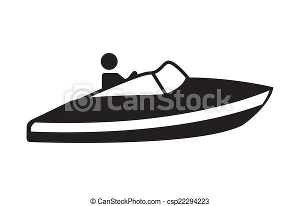 esqui, jato, desenho - csp22294223