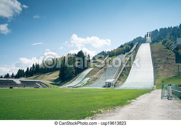 esqui-saltar, garmisch-partenkirchen - csp19613823