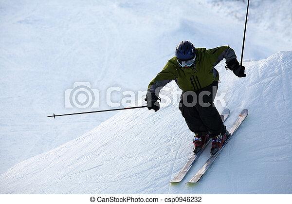 esquiador - csp0946232