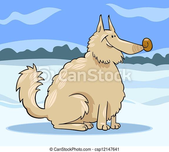 Esquimau chien illustration dessin anim purebred - Esquimau dessin ...