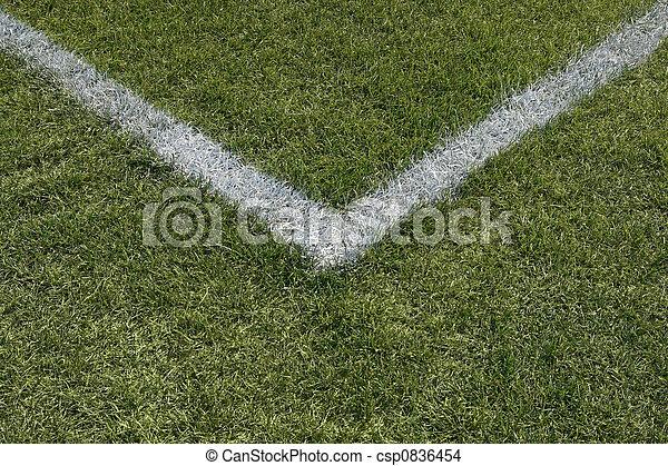 Líneas límite de esquina de un campo deportivo - csp0836454