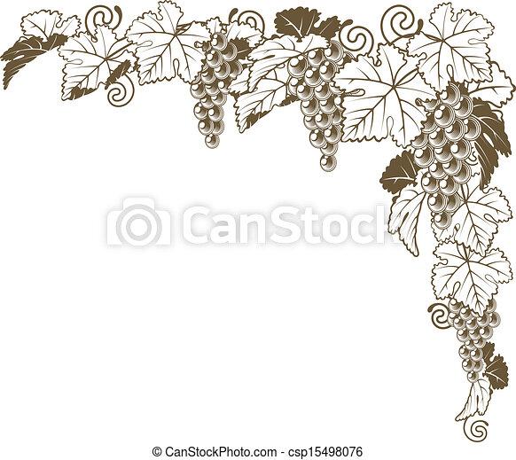 Un adorno de vid de uva - csp15498076