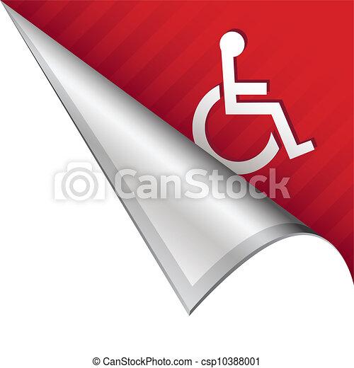 La cuenta de la silla de ruedas - csp10388001