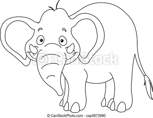esquissé, éléphant - csp4873990