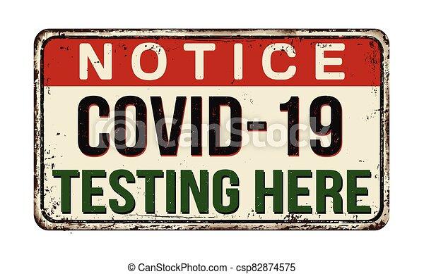 essai, ici, signe, rouillé, vendange, métal, covid-19 - csp82874575
