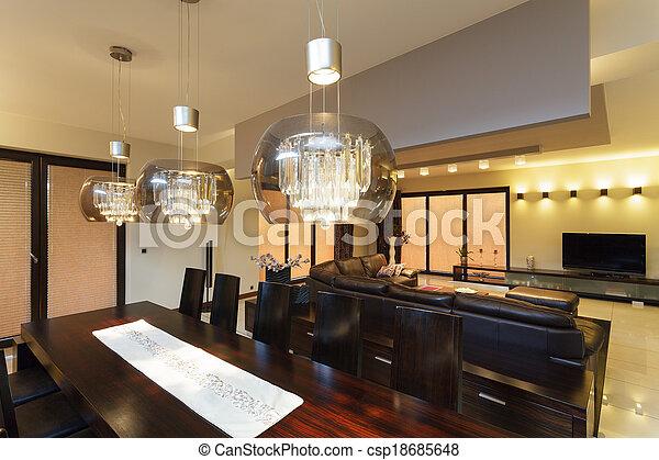 essen beleuchtung zimmer closeup glas essen lampen oben tisch. Black Bedroom Furniture Sets. Home Design Ideas