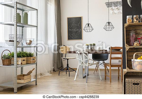Essen, Ecke, Zimmer, Tisch   Csp44288239