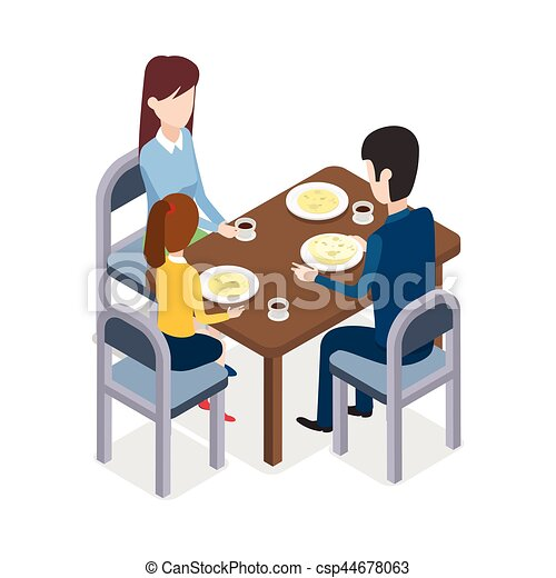 essen familly restaurant tisch sitzen wohnung clipart vektor suchen sie nach. Black Bedroom Furniture Sets. Home Design Ideas