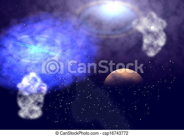 essendo, nebulosa, splendere - csp16743772