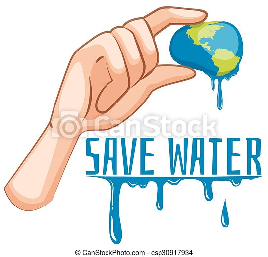 essendo, segno, acqua, spremuto, terra, risparmiare - csp30917934