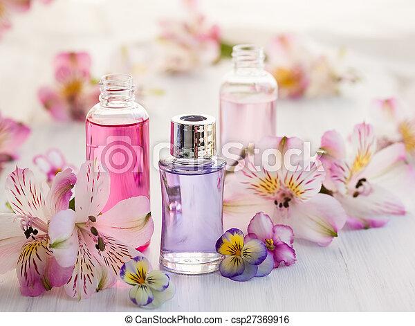 essential aromatic oils - csp27369916