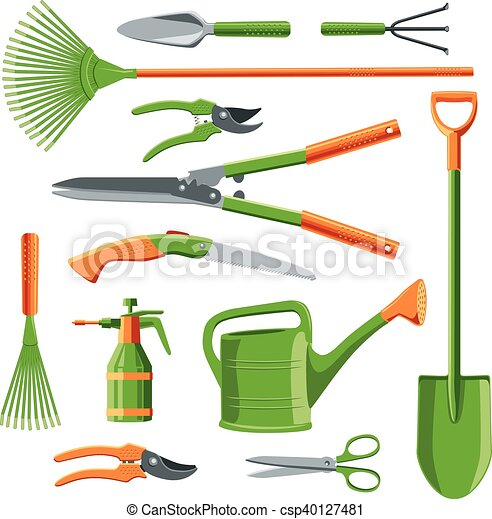Essential Gardening Tools Vector Essential Gardening Tools Kit