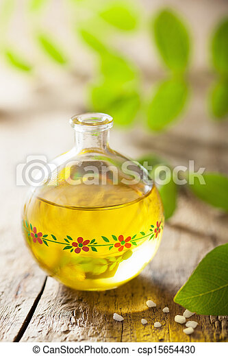 essential oil and herbs - csp15654430