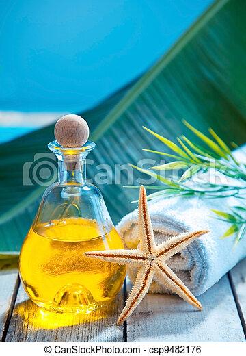 Essential oil aromatherapy treatment - csp9482176