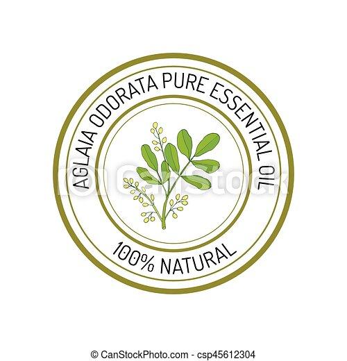 Essential oil label
