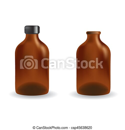 essential oil package isolated on white background - csp45638620