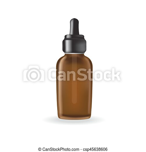 essential oil package isolated on white background - csp45638606