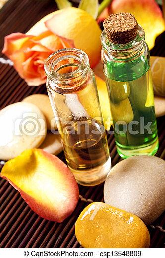 Essential oils bottles - csp13548809