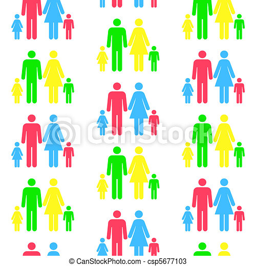essere, differente, modello, seamless, qualsiasi, scalato, persona, ripetuto, color.(can, silhouette, size) - csp5677103