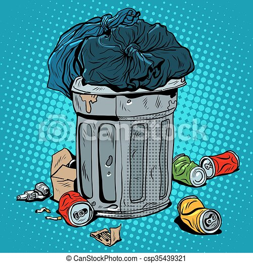 Latas de basura de reciclaje ecológico - csp35439321