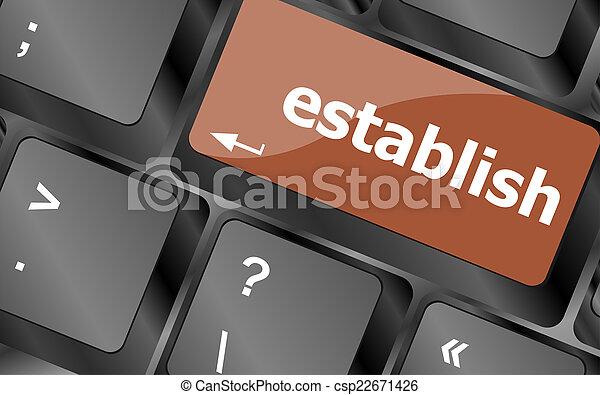establish, computer, parola, chiave, tastiera - csp22671426