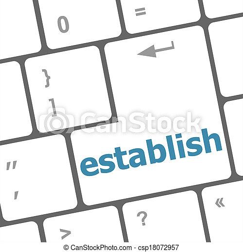 establish, computer, parola, chiave, tastiera - csp18072957