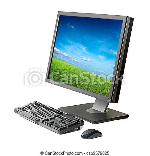 Computadora activada aislada - csp3579825