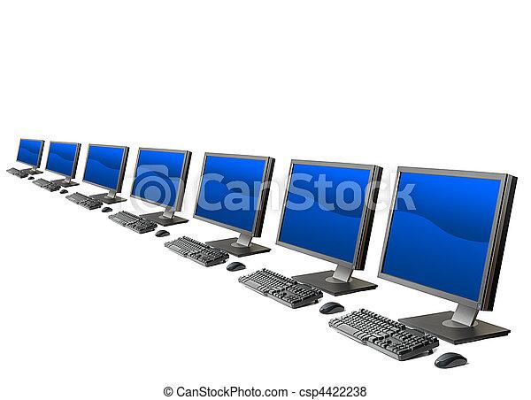 Computadora activada aislada - csp4422238