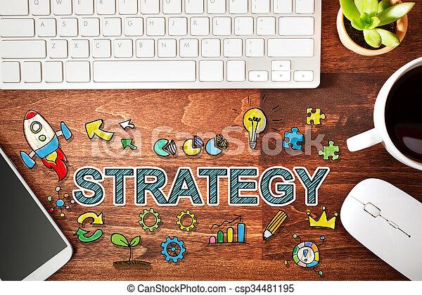 estación de trabajo, concepto, estrategia - csp34481195