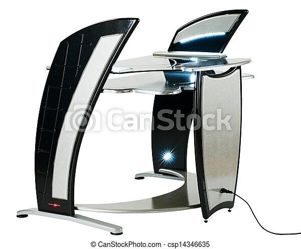 La computadora moderna o la estación de trabajo - csp14346635