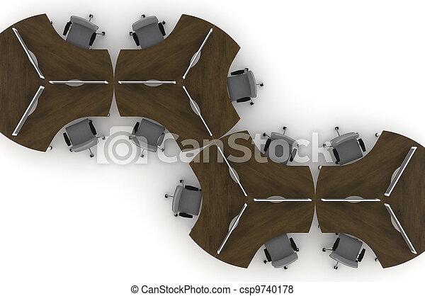 Mesa de trabajo 3D ilustración - csp9740178
