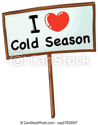 Estación, frío. De madera, estación, marco, amor, frío.