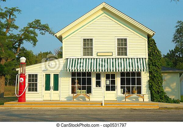 estación, gas, tienda, general - csp0531797