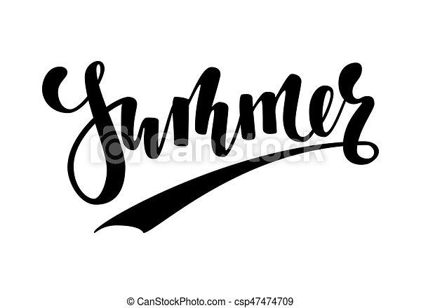 Summer Caligrafía Dibujada A Mano Y Letra De Pincel Diseño
