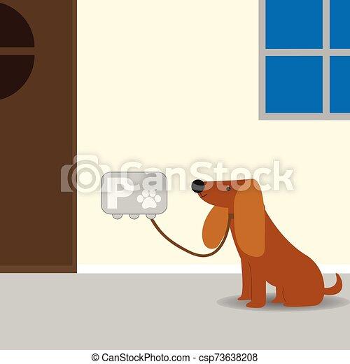 estacionamiento, perro, estación - csp73638208