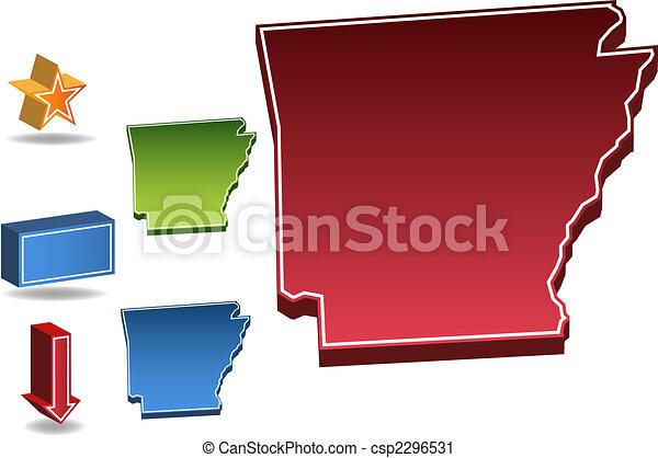 Estado de Arkansas - csp2296531