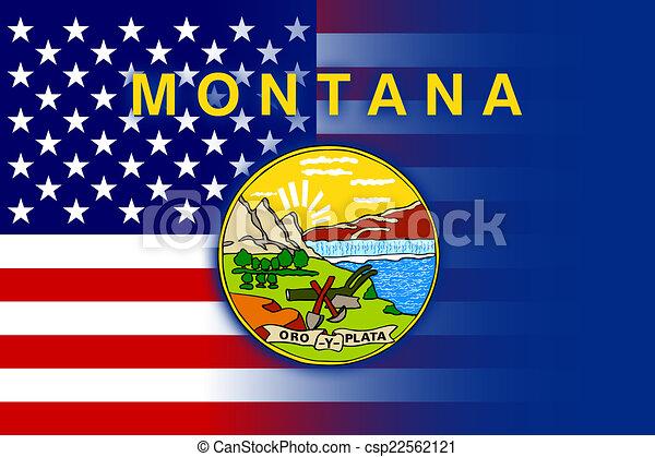estado, bandera de montana, estados unidos de américa - csp22562121
