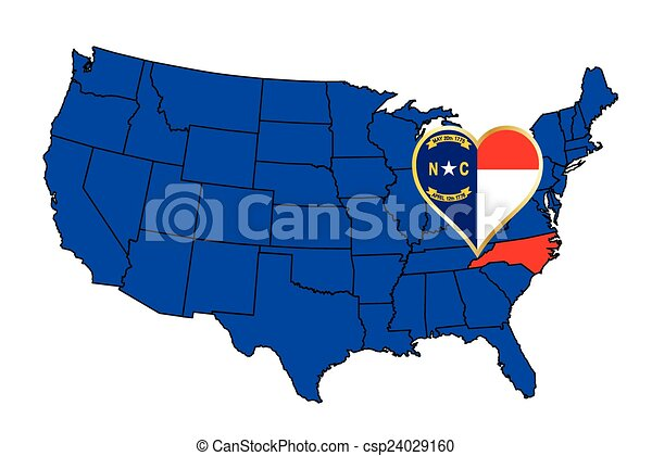 estado, carolina norte - csp24029160