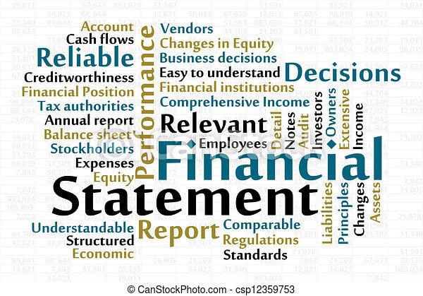 Declaración financiera - csp12359753