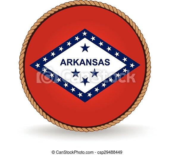El sello estatal de Arkansas - csp29488449
