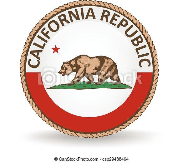 El sello del estado de California - csp29488464