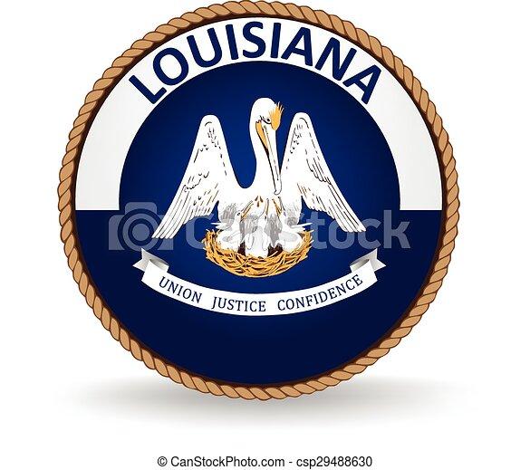 El sello estatal de Louisiana - csp29488630