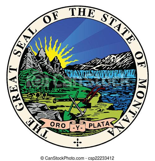 El sello estatal de Montana - csp22233412