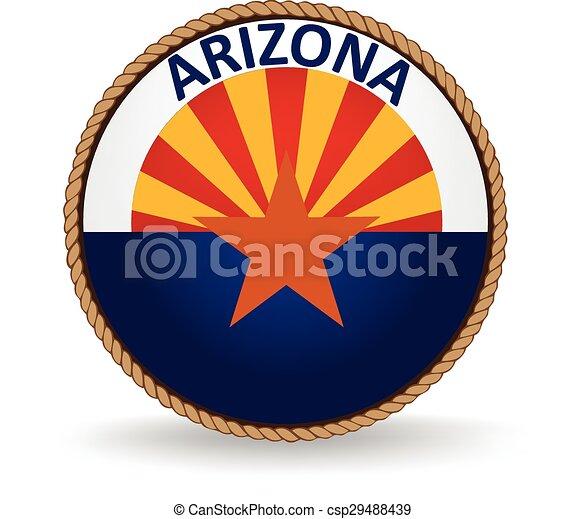 El sello estatal de Arizona - csp29488439