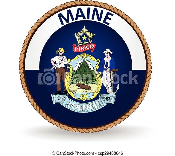 El sello estatal de Maine - csp29488646