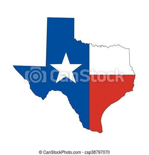 Texture Texas State icono - csp38797070