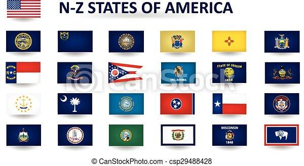 estados, américa, n-z - csp29488428